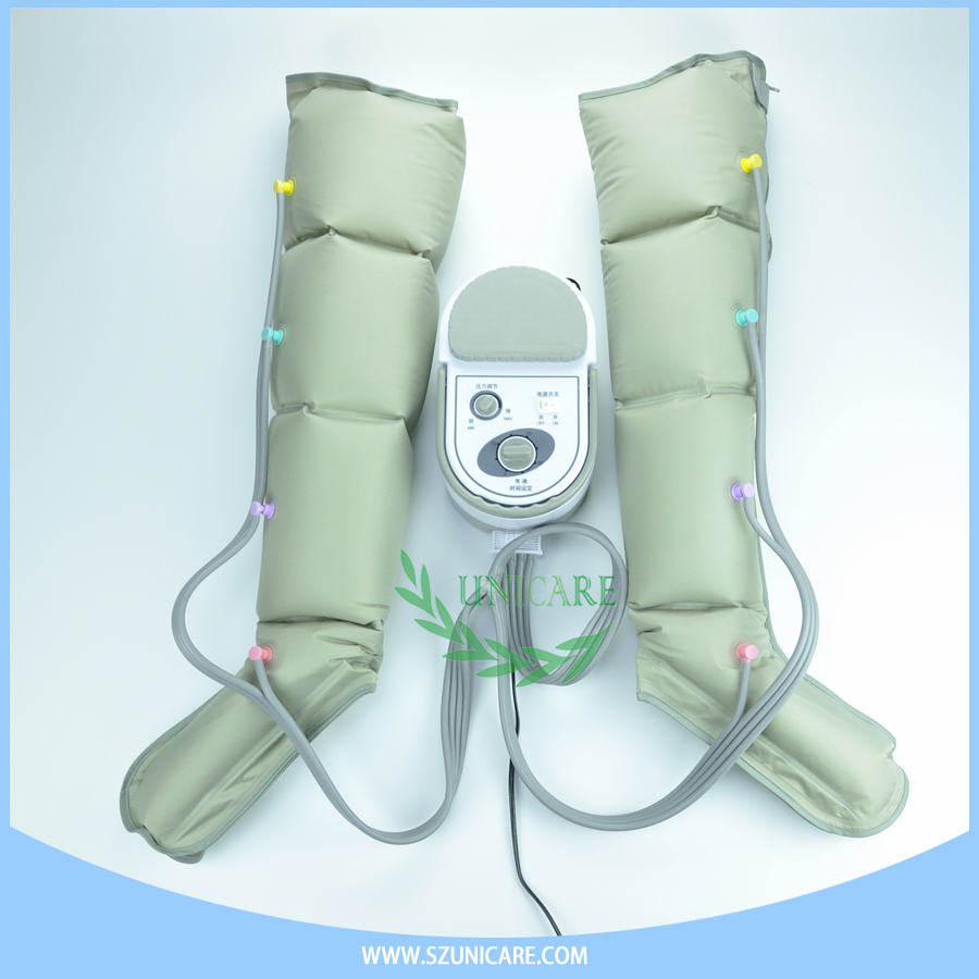Relieve Painful, Swollen Thigh, Leg, Feet & Arm air pressure leg massager with overlapping boots