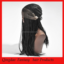 Hot Sale Unprocessed top grade 5a 100% India Virgin hair Black Women Micro Braids full lace Wig for South Africans