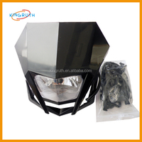 Street Fighter Bike Motorcycle Universal Dirt Bike LED Vision Headlight Black