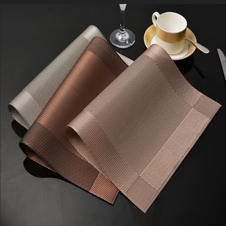 brown kitchen vinyl plastic placemats for restaurants