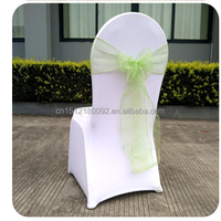 Cheap Wholesale Stylish Taffeta Chair Covers Band with Organza Sashes