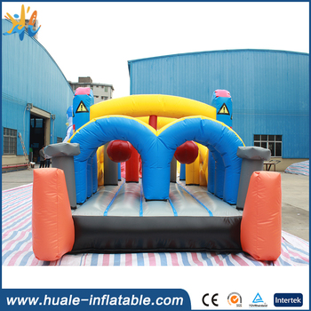 Robot style cartoon character jumping castle/jumping castles slides for children