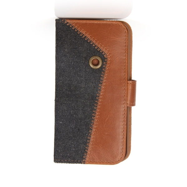 Fashion design fabric PU leather phone case for iphone 5 5s