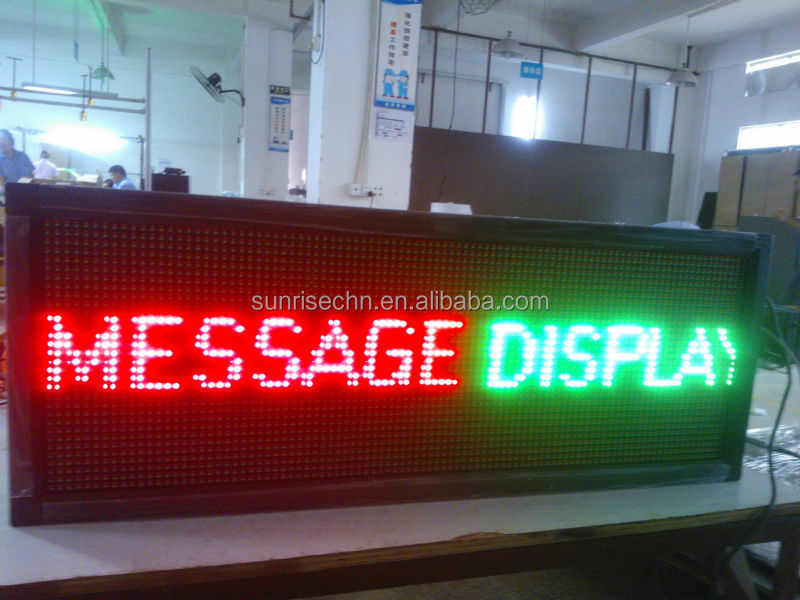 led moving message sign,indoor full color/three color led car message sign board,led running message display sig
