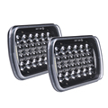 "High/Low beam DRL 5D 5x7"" 5*7 LED Headlight Trucks 7"" Rectangle LED Headlamp"