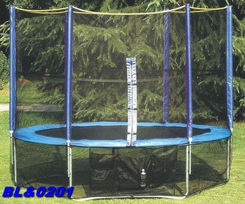"BOLE cheap big 8"" trampoline park with safety net and ladder for kids or adult"