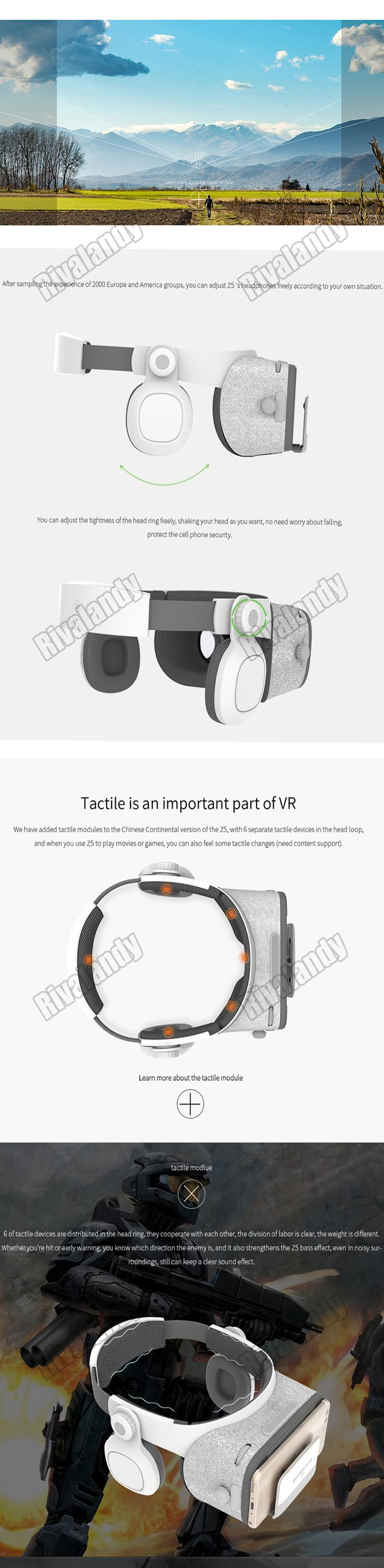 2017 best selling and most popular virtual reality glasses 3D vr box BOBO Z5