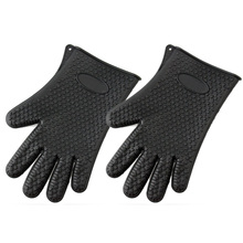 2016 Black New Heat Resistant Silicone Oven Mitts