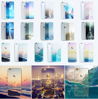 City Street Tower Forest Ocean Snow Mountain landscape Scenery phone Case packaging Soft TPU Transparent