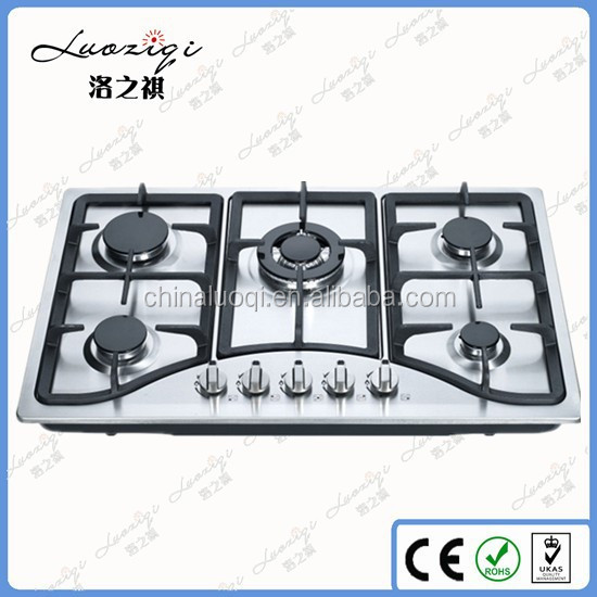 Best quality portable induction gas hob,5 burner stainless steel table gas stove,gas cooker