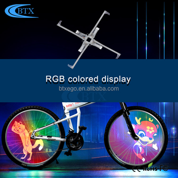 2018 Hot Sale Bike Accessories Waterproof led flashing ABS Cycling Bicycle wheel light