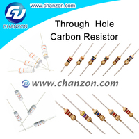 Top Factory 1/8W 1/6W 1/4W 1/2W 1W 2W 3W 5W Through Hole 5% Carbon Film Resistor 150 ohm resistor carbon film
