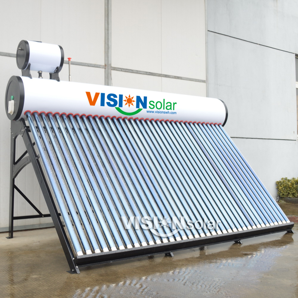 Compact Vacuum Tube Solar Water Heater Residential for sale
