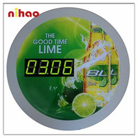 2015 Fashion Metal Digital Wall Clock for Promotion