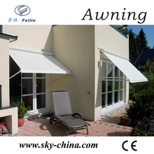 Aluminum retractable dutch awnings