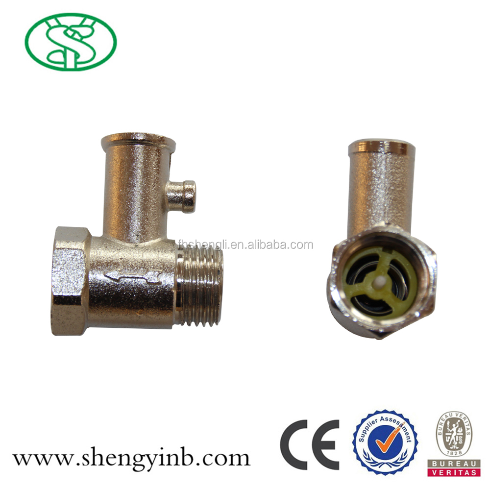 brass safety valve for water heater CE approved