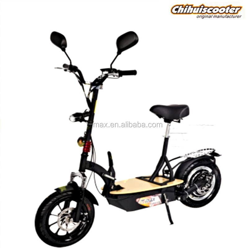 350W foldable electric scooter with 48v lead acid battery and hub motor