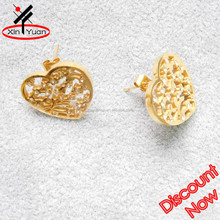 butterfly clasp indian gold jhumka earring jewelry with crystal