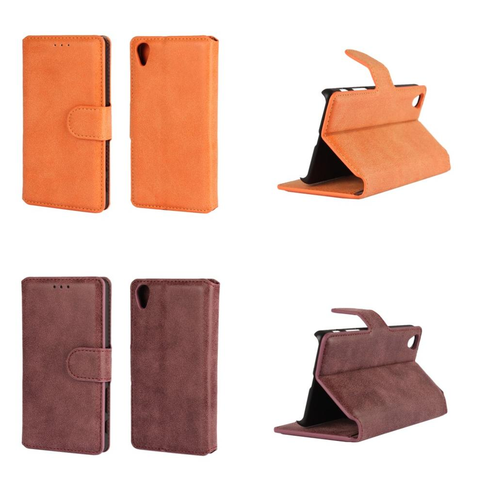 Coque Fundas Pouch Bag Vintage Matte PU Leather Phone Cover Flip Wallet Case for Sony Xperia X Performance Cases