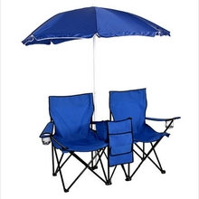 Fold Up Umbrella Table Cooler Beach Camping Chair Picnic Double Folding Chair