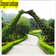 huge artificial topiary giraffe fake grass animal metal frame animal metal garden animals, artificial plant sculpture