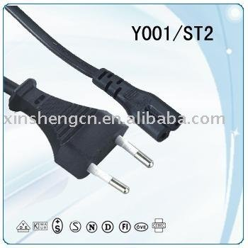USB on line power cord for EU market
