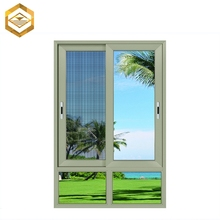 Mosquito Net Aluminum Frame And Slide Window Colored Glass Manufacture