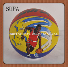 custom high quality size 1 rubber basketball /basketball factory/promotion basketball