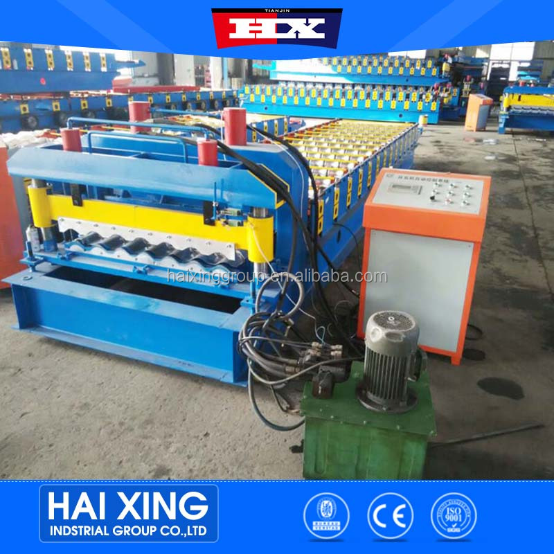 Trade Assurance 828 Glazed Steel Sheet Roofing Tile Roll Forming Machine for Canton Fair