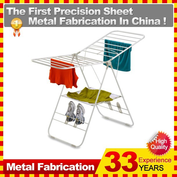 Foldable Folding Bathroom Laundry Clothes Drying Rack Sorter Household Hanger Stand Home