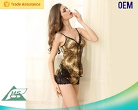 Diversified designs exquisite ladies sex long satin nightgown for woman