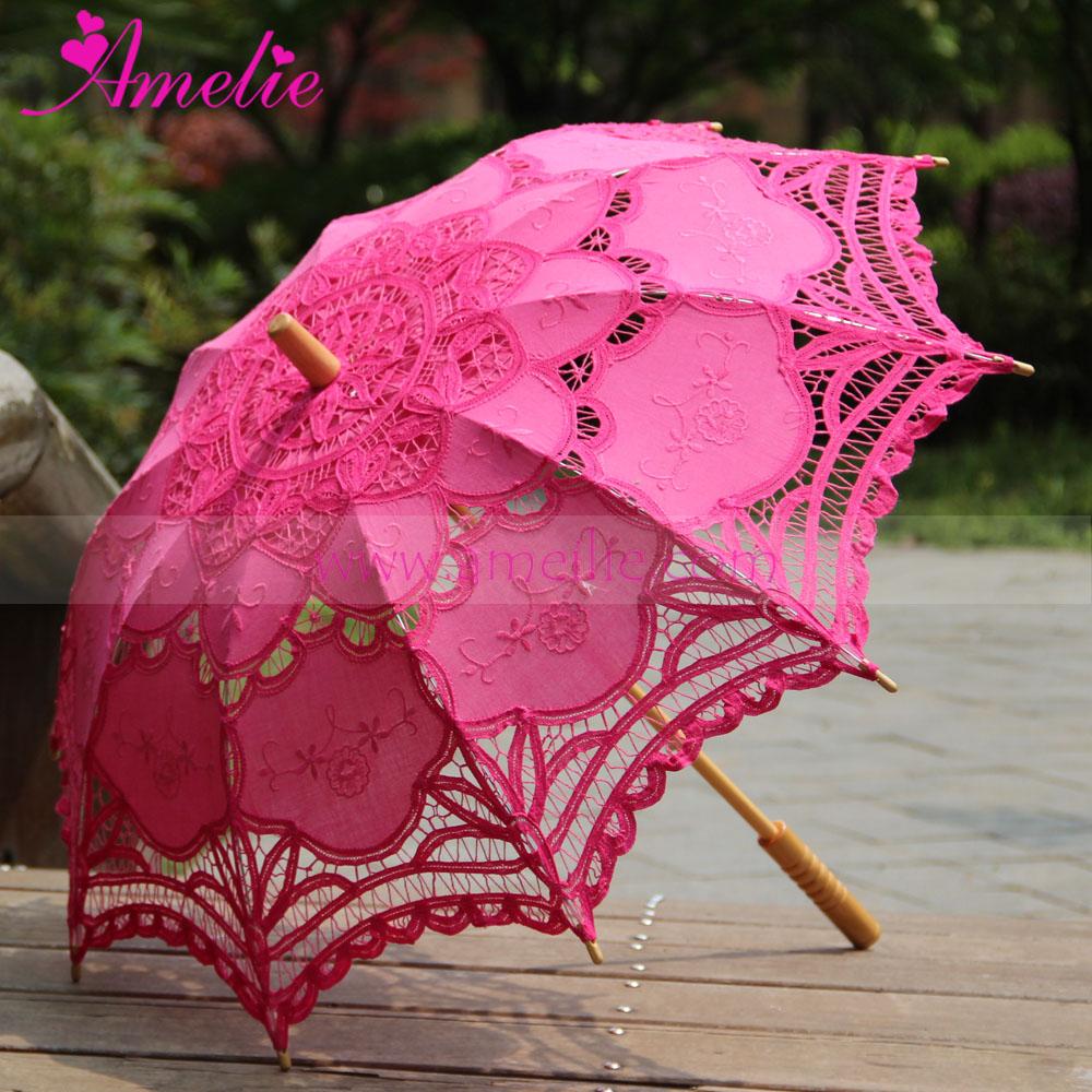 Сделать кружевной зонт