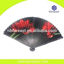 Best Seller promotional gifts style folding hand fan, bamboo paper printed hand fan