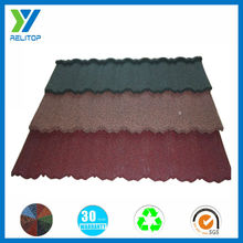 Waterproof building materials stone chips coated metal roofing tile