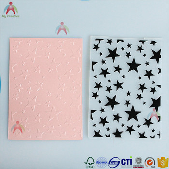 2017 newly 5*7 embossing folder in scrapbook with stars