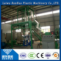 good plasticizing industrial shrink wrapping plastic film making machine