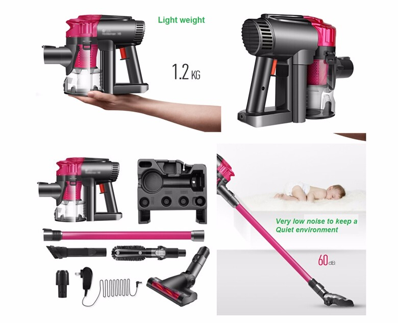 Cordless Vacuum Cleaner Lithium Battery Powered Wireless Vacuum Cleaner