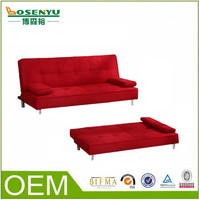 Flat pack sofa bed,cheap I shape sofa bed for philippines