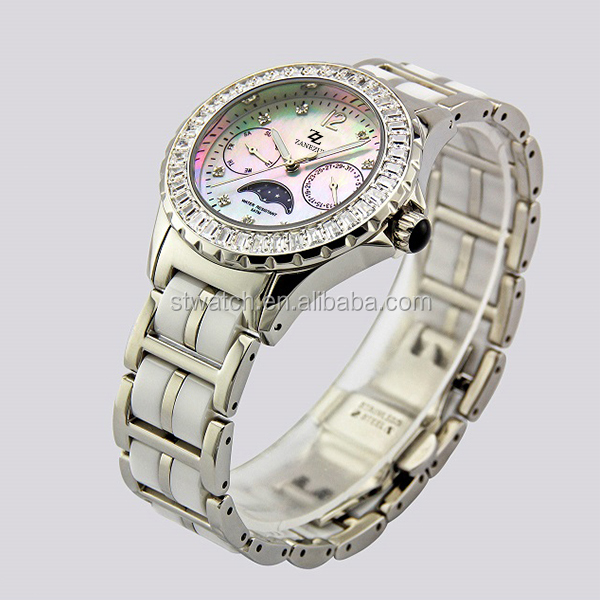 Japan Movement No Battery Watches Fashion sapphire ceramic watches