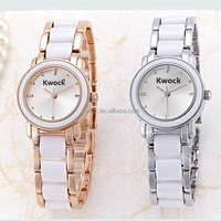 Best workmanship colorful good-looking alloy and silicone hand watch japan movement quartz wrist watch for couple
