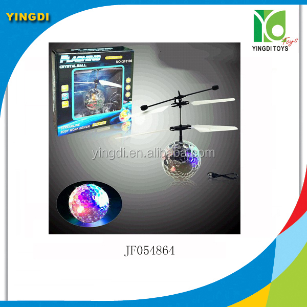 Hand Induction RC Flying Lighting Crystal Ball Sensing Bird Aircraft Toy