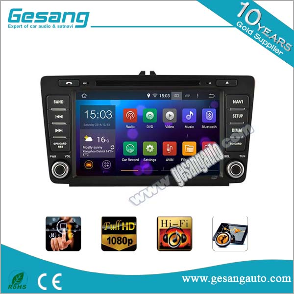 New product Android 5.1.1 car multimedia system car dvd player with gps for SKODA Octavia