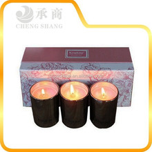 Customzied large candle boxes with 3 compartments , candle packing box cardboard insert design