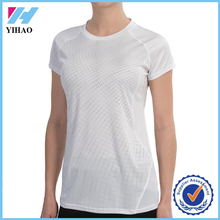 Yihao 2015 best selling women 100% polyester blank t shirts wholesale custom multi colours sport shirt