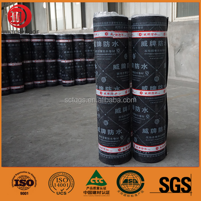 asphalt roll siding bitumen sheets 4mm bituminous waterproof membrane