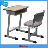 Commercial Folding School Chair Desk, Student School Desk with Attached Chair