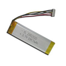 3.7v 2000mah Lipo Battery Pack wrap, one cell Lithium Ion Polymer Battery with PCM