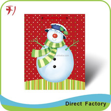 OEM/ODM Factory Wholesale Good Quality Handcraft 3d santa claus paper gift bags