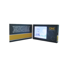 Factory Customized 2.4 inch business greeting gift name wedding LCD screen video player brochure in print a paper card