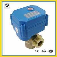 3-way electric ball valve DC12V DC24V 20MM for motorhome
